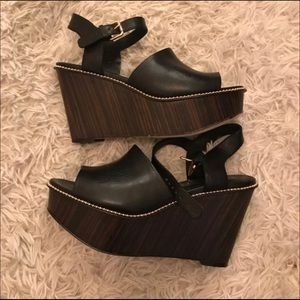 Coach Black Leather Sandals